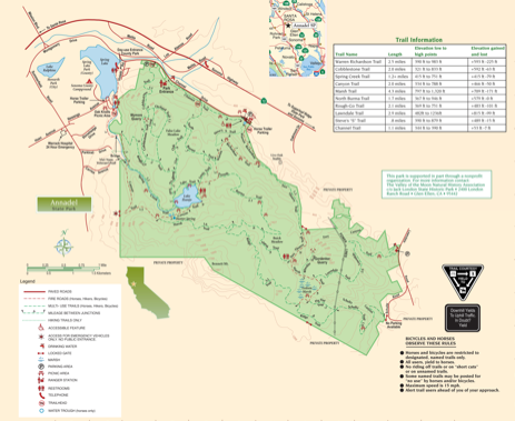 Annadel State Park - trail map