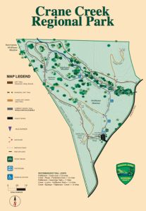 Crane Creek Regional Park Map