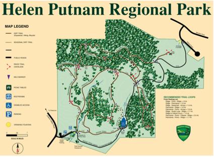 Helen Putnam Regional Park - Trail Map