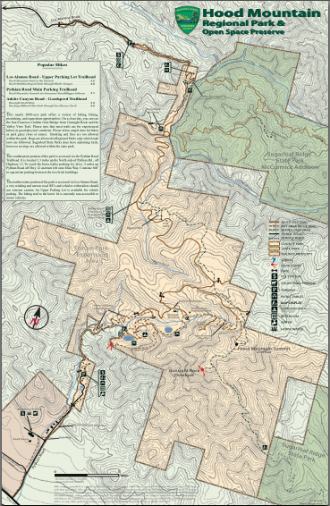 Hood Mountain Regional Park Trail Map