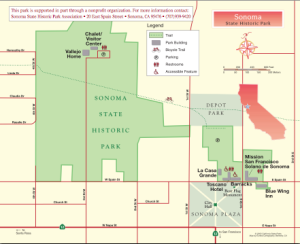 Sonoma State Historic Park Map