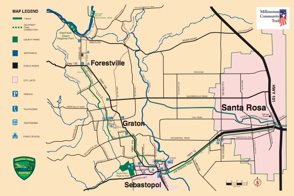 West County/Joe Rodota Trail - Map