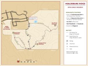 Healdsburg Ridge Open Space Preserve - Map