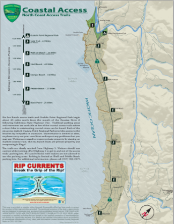Sea Ranch Coastal Access Trails map