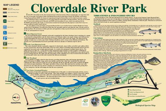 Cloverdale River Park - Map