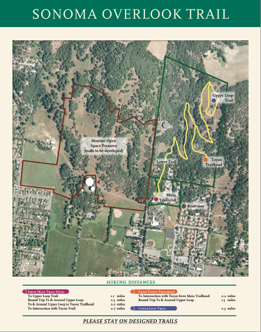 Sonoma Overlook Trail - Map