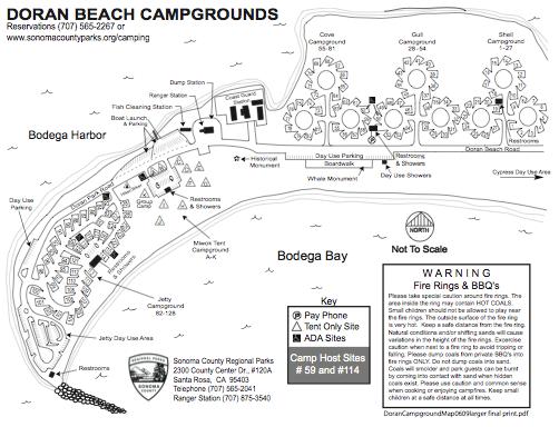 Doran Beach Regional Park Map